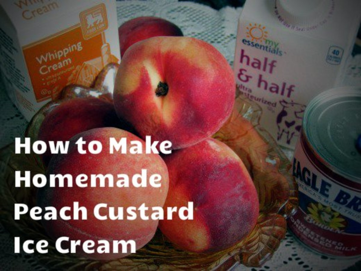 How to Make Homemade Peach Custard Ice Cream