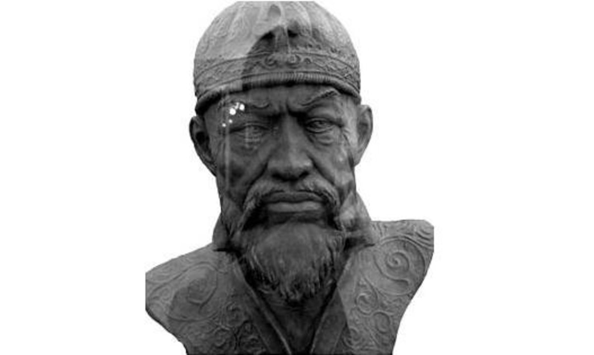 A reconstruction of Tamerlane's face.