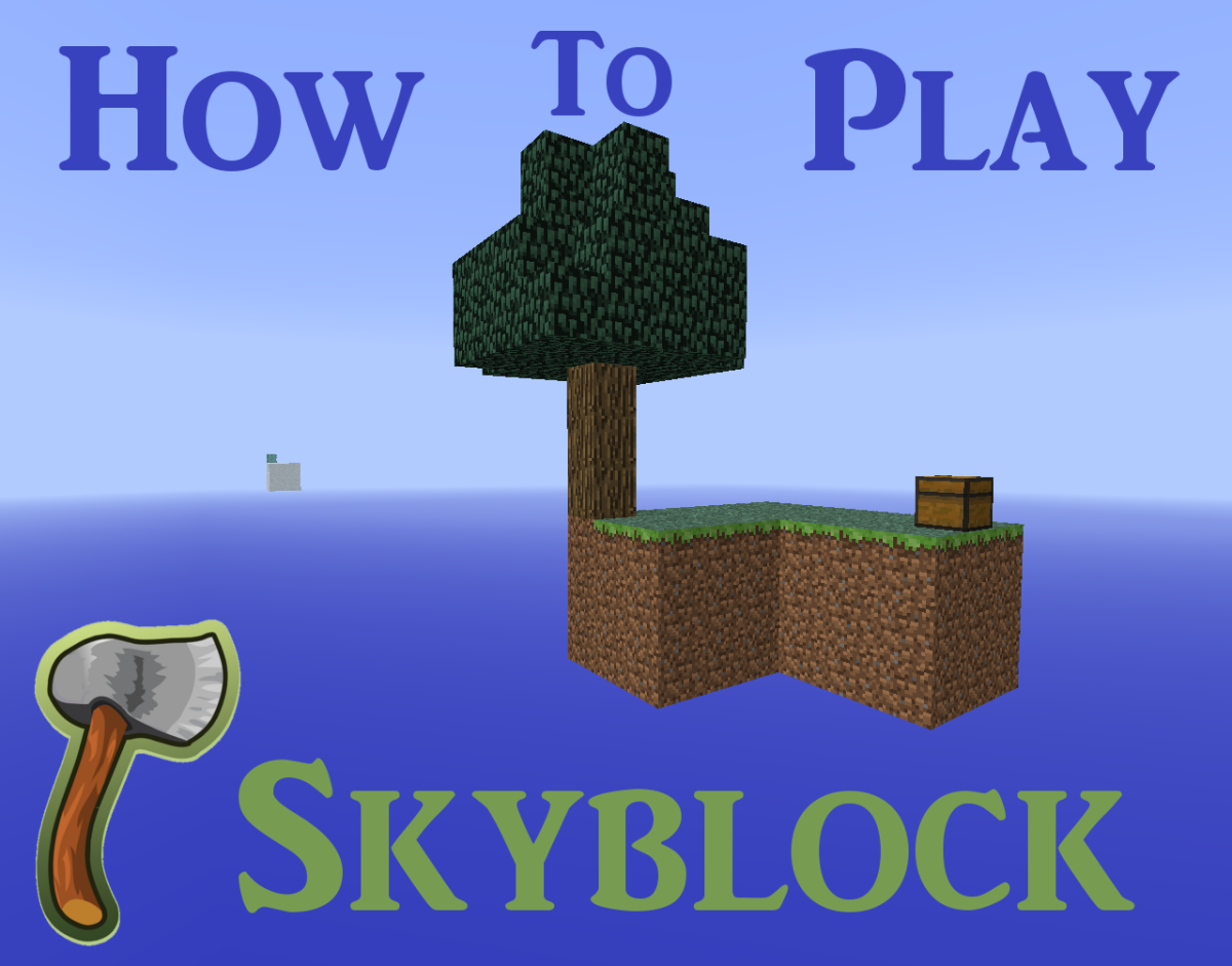 "SkyBlock is a ""Minecraft"" survival map that challenges you to survive on a sky island."
