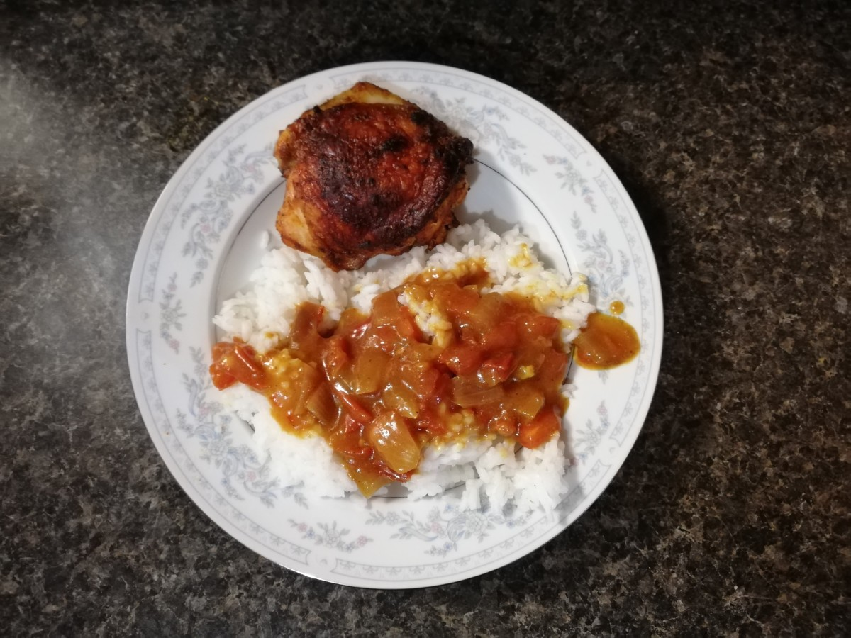 Caribbean style curry chicken