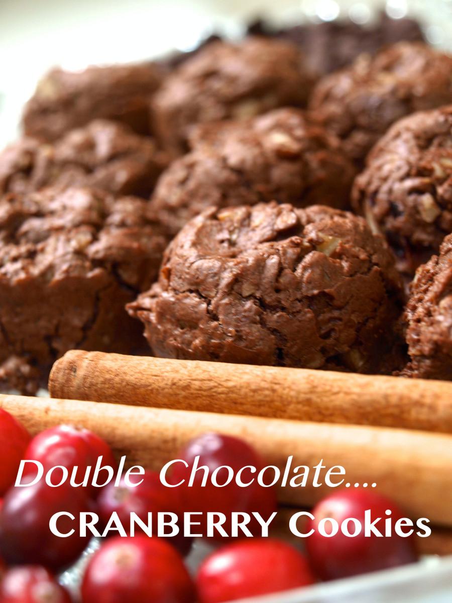 Double Chocolate Cranberry Cookies Recipe