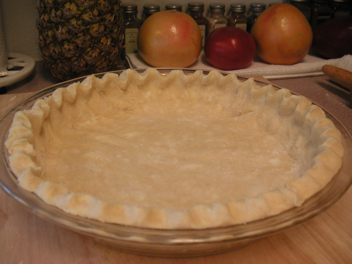Ready for filling for pies to be baked or to go into the oven for pudding pies.