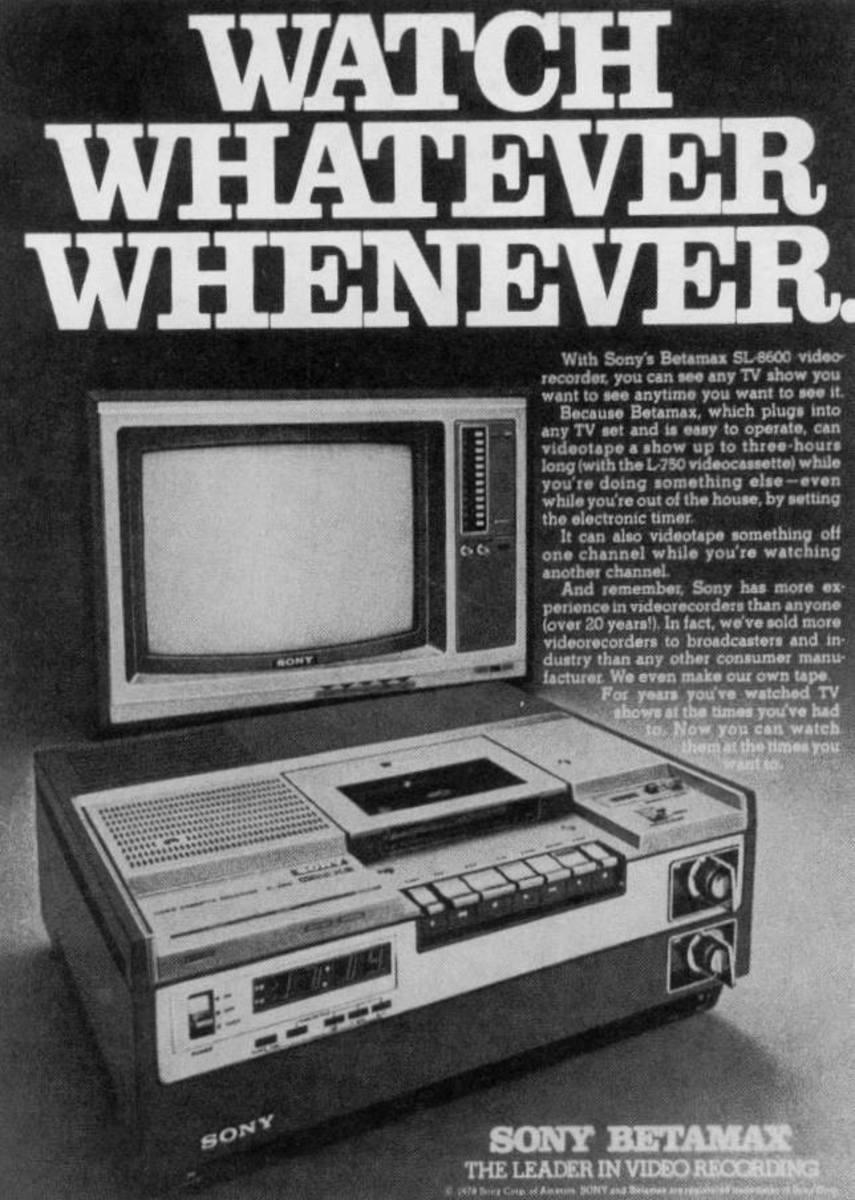 Betamax Advertisement
