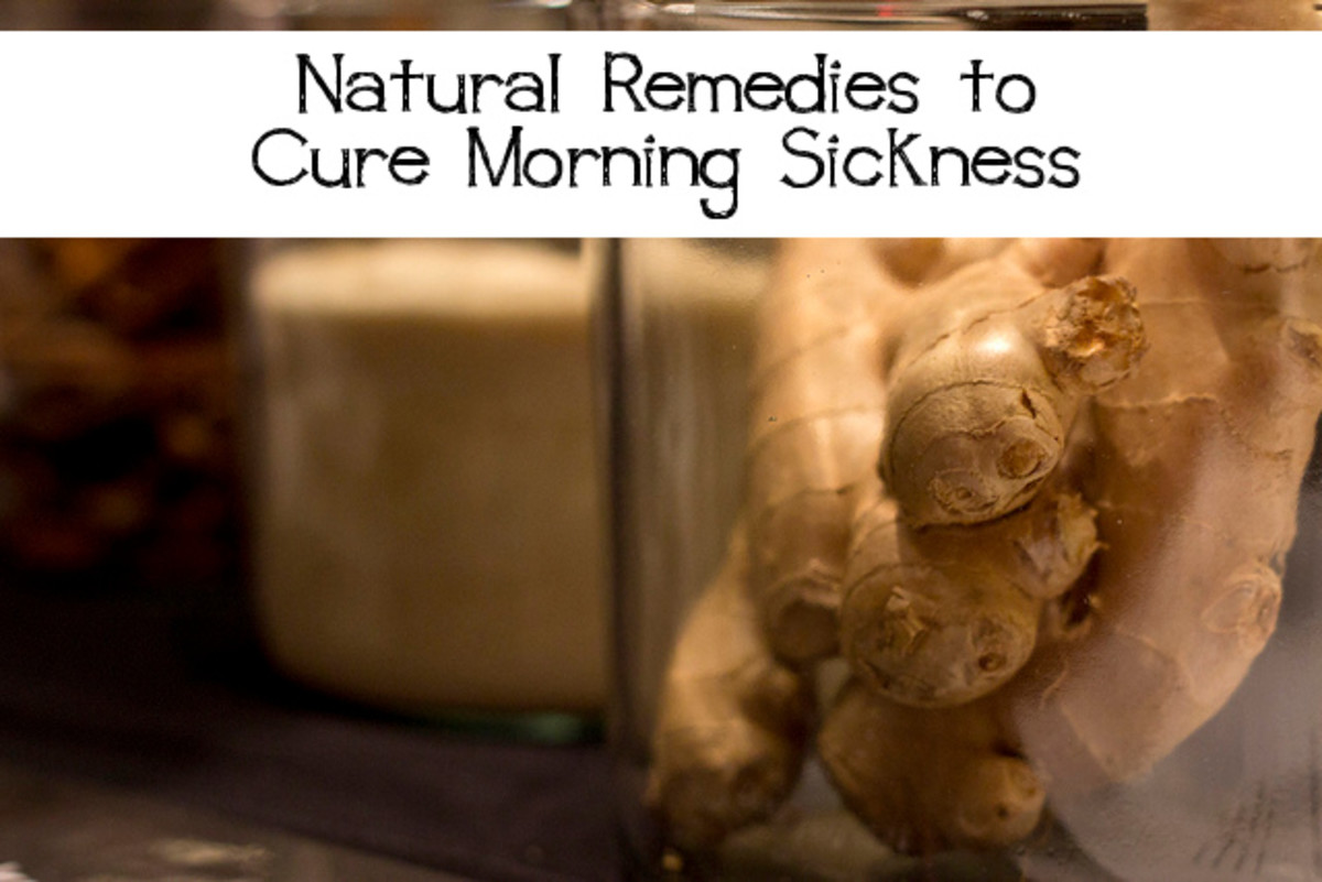 Using natural remedies to cure morning sickness may be preferable to pharmaceuticals and may be more effective. Photo edits by Becki.