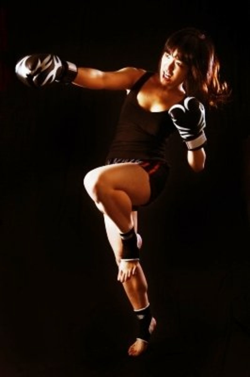 Kick Boxing Workout Using A Tabata Style Method of Exercising