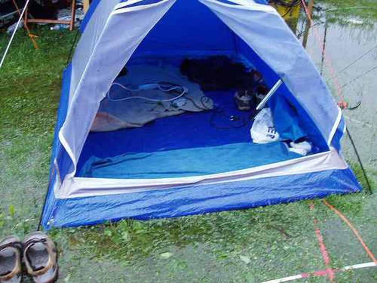 A great waterproof tent will remain dry on the inside even in the heaviest of rains.