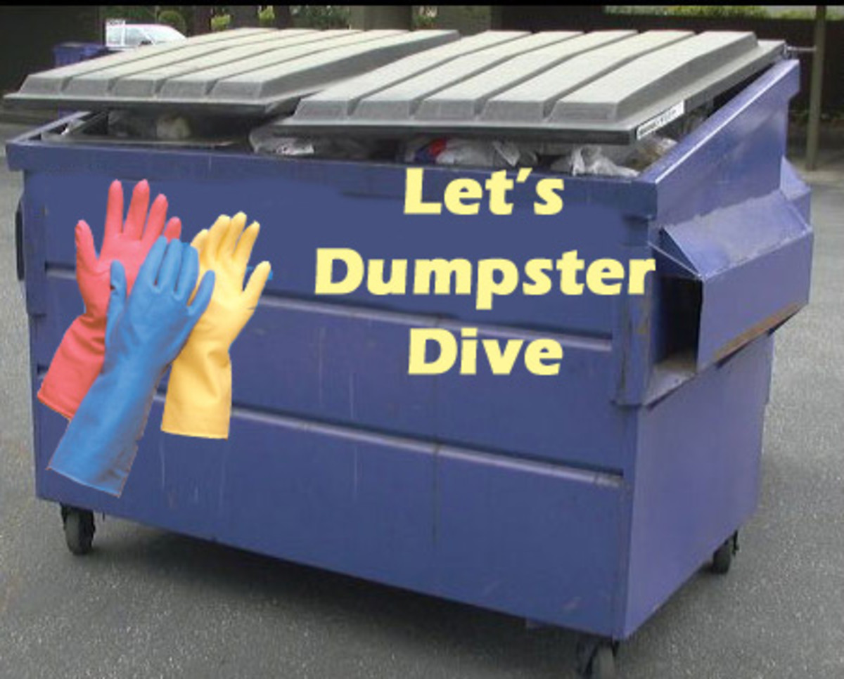 Dumpster diving! Find your treasures! Dive like a pro!