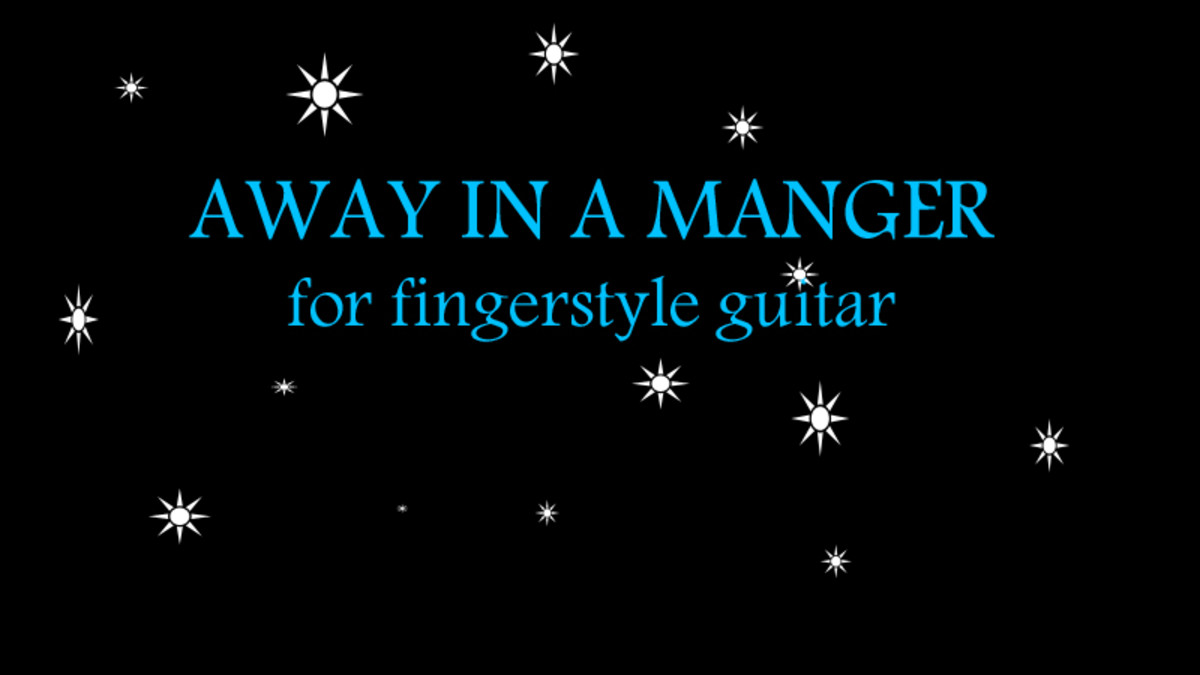 Away In A Manger Fingerstyle Guitar Arrangement In Notation Tab