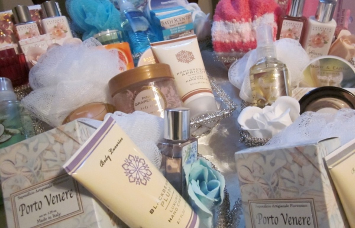 Women love to pamper themselves with lots of luxurious bath products and yummy scents.