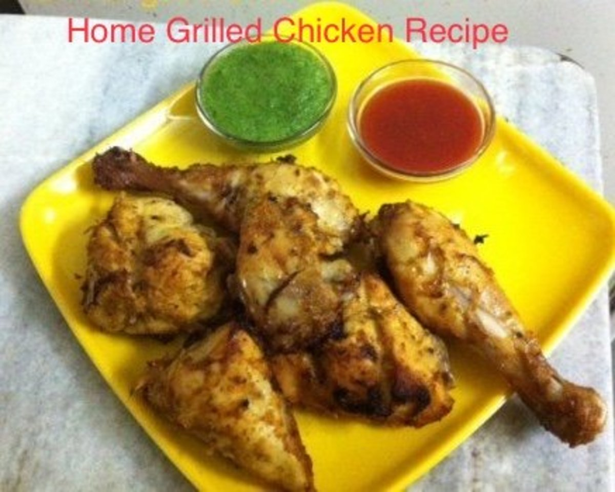 Home grilled chicken recipe