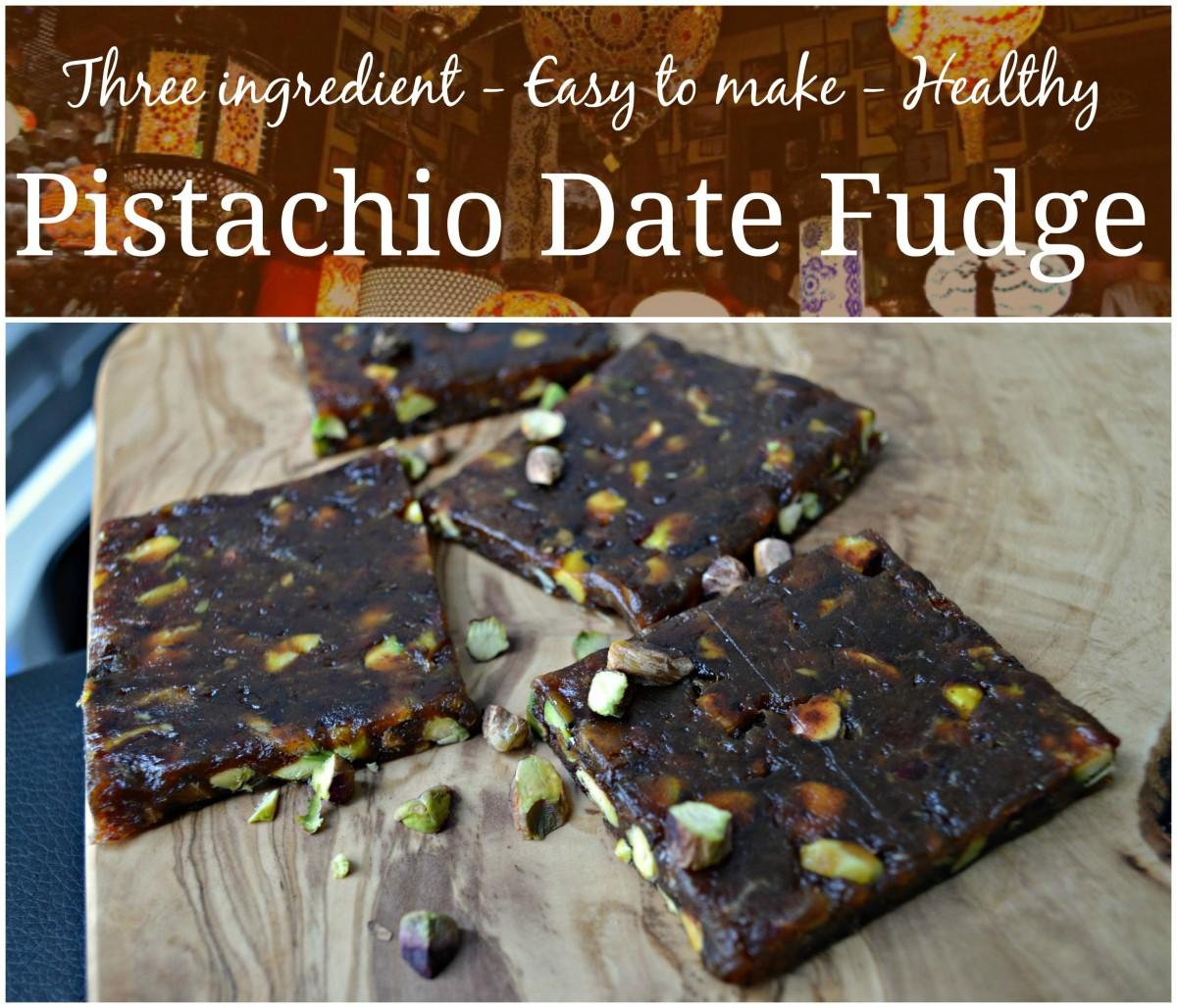 Healthy Dessert Recipe: Pistachio Date Fudge