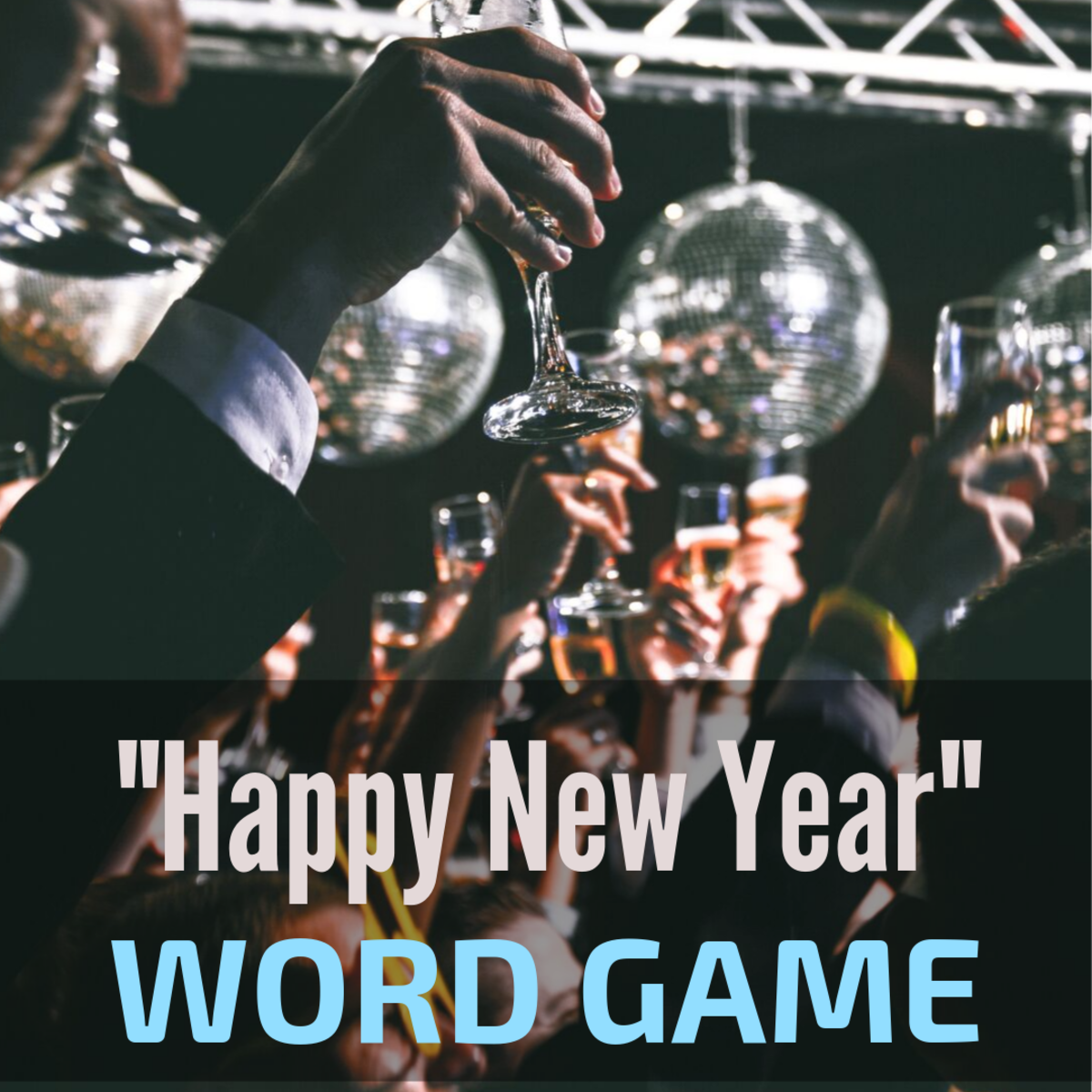 How many new words can you spell for this fun New Year's Eve activity?