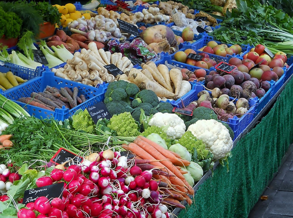Fruits and vegetables are great energy boosters.