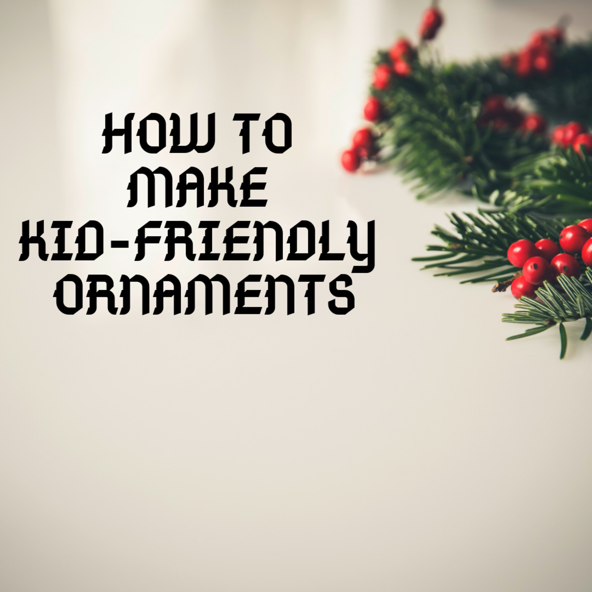 Learn how to make ornaments to hang on trees, to hang from garlands, or on doorknobs.