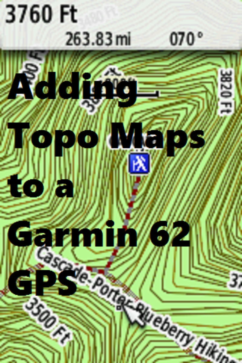 How to install topographical maps onto a GPS.