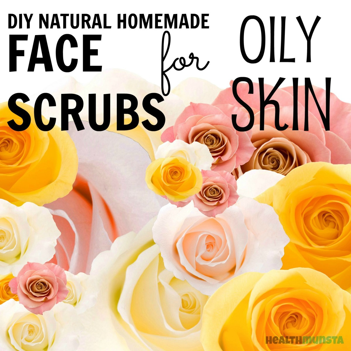 Awesome DIY face scrubs for those with oily skin issues! All-natural, pure, safe and lovingly homemade recipes!