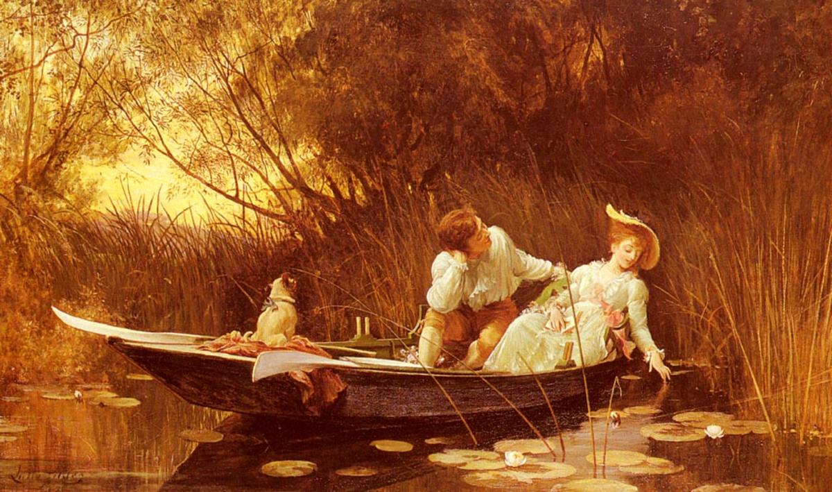 влюбленные в лодке
