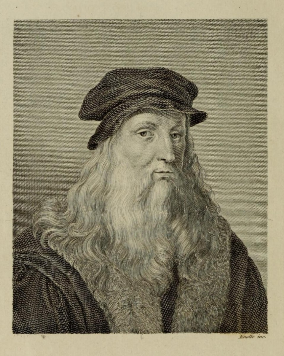 "Portrait in the third page of Carlo de Blasis Book ""Studi intorno all'arte e al genio di Leonardo da Vinci"" published in 1872"