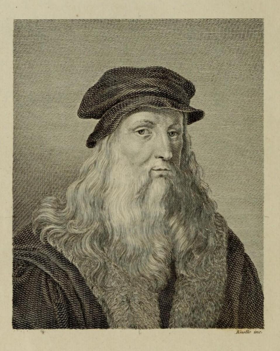"""Portrait in the third page of Carlo de Blasis Book """"Studi intorno all'arte e al genio di Leonardo da Vinci"""" published in 1872"""