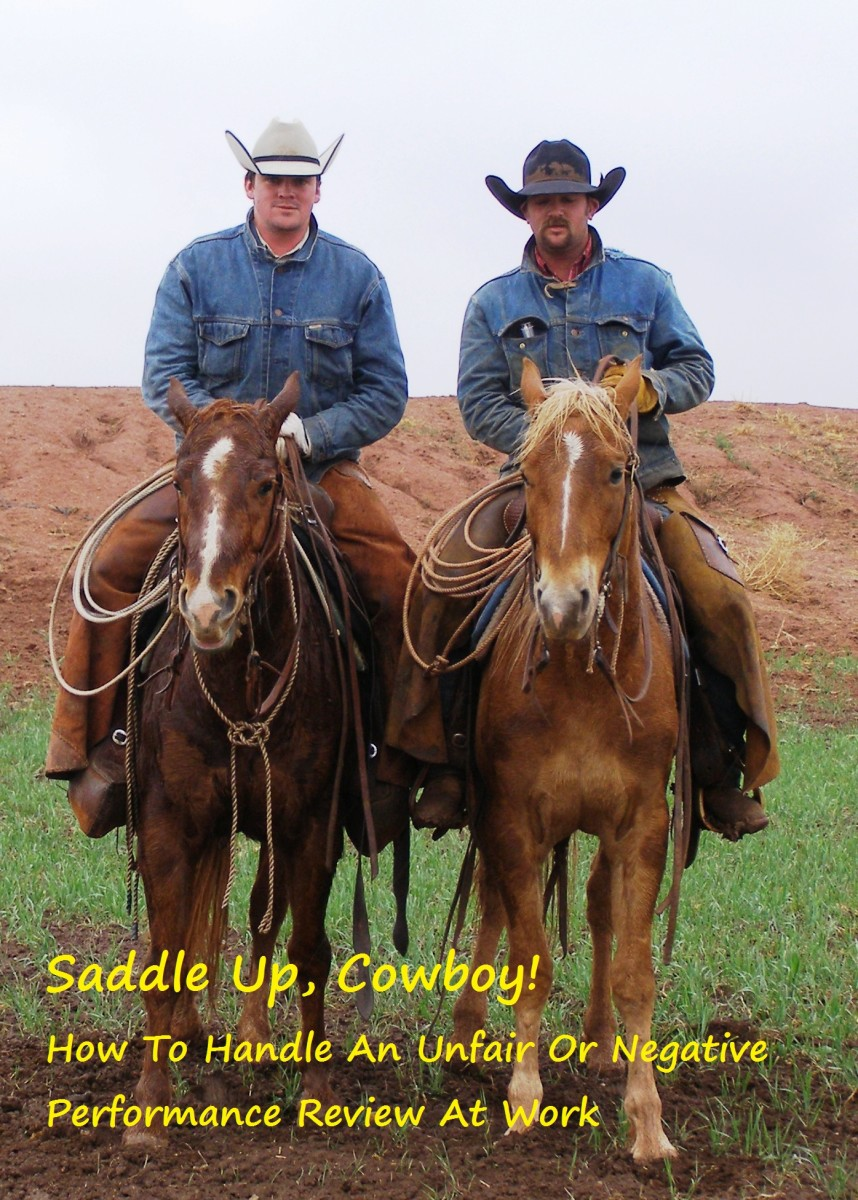 A cowpoke is a lazy cowboy who neglects his duties on the farm or ranch.  Negative performance feedback can hurt the heart of even the toughest cowboy (or office worker).