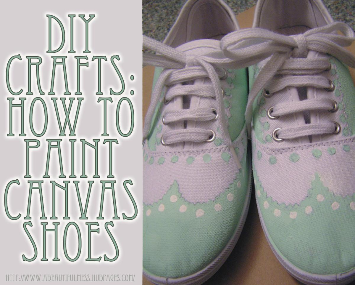 diy crafts painted canvas shoes feltmagnet