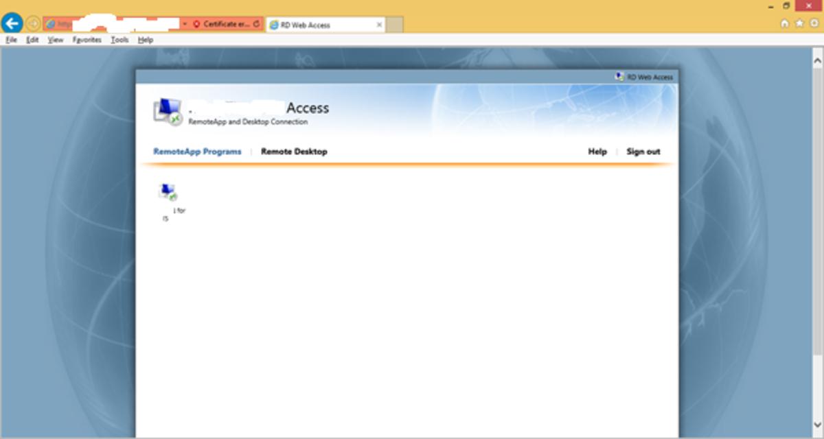 Remote Desktop via Proxy Server to a Remote Desktop Server