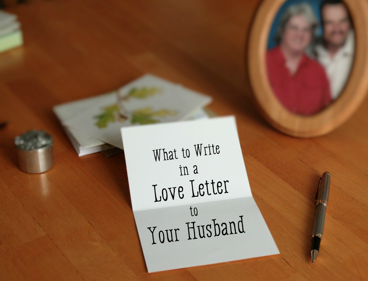 Girl writing a letter to her boyfriend