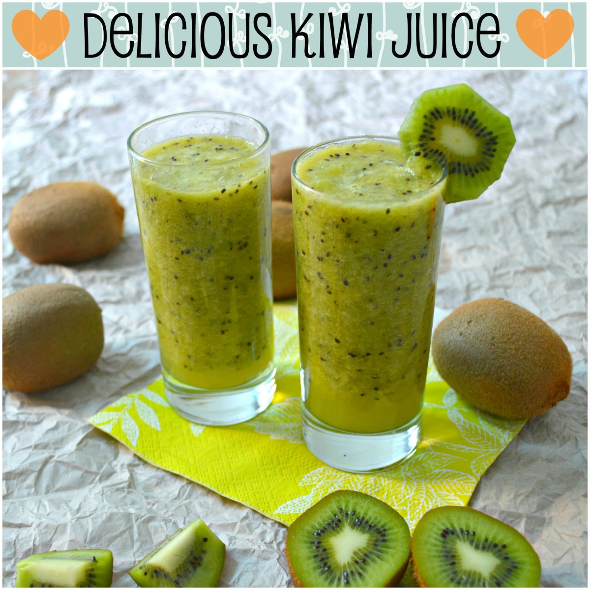A simple and healthy kiwi juice that tastes as good as it looks!