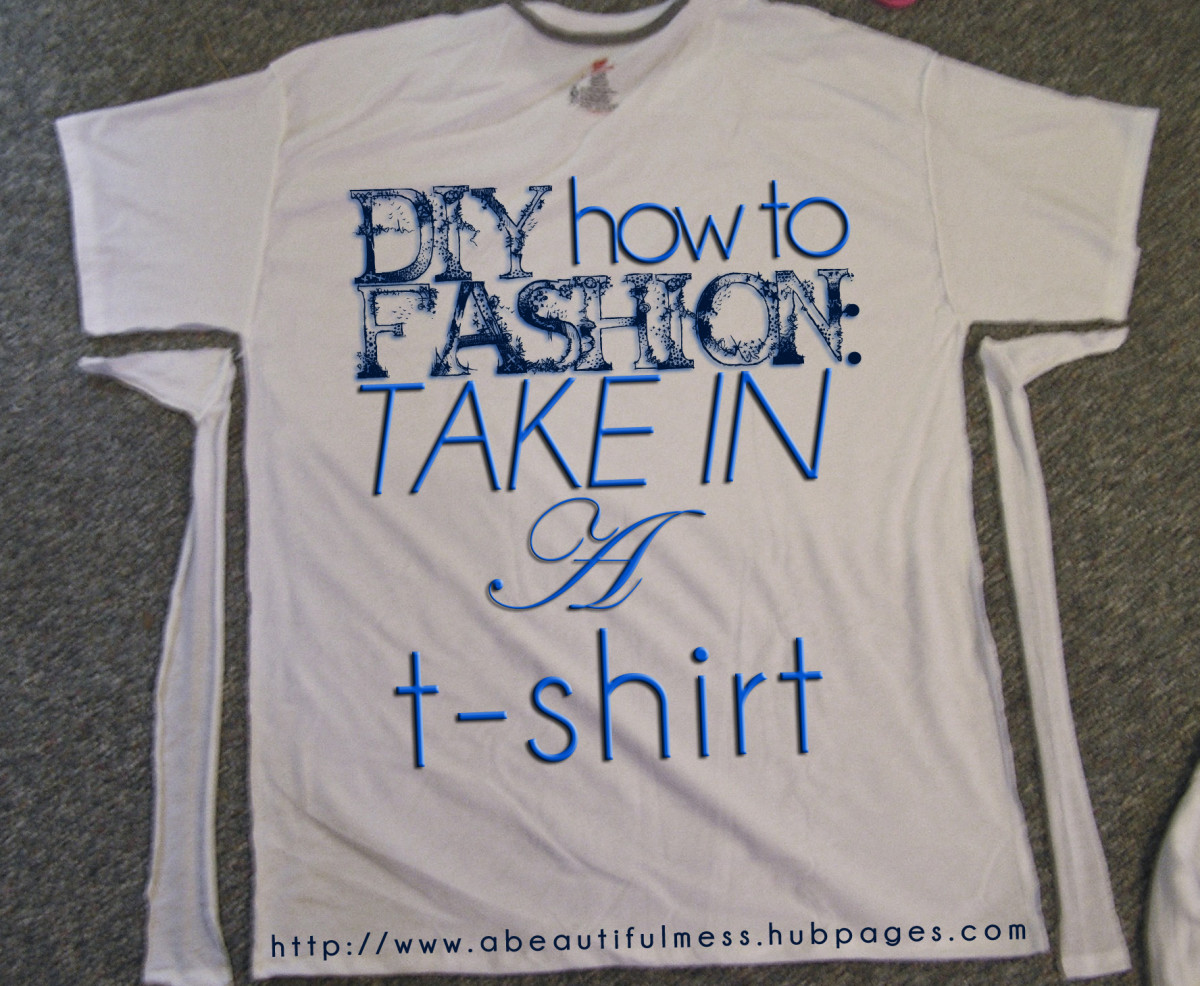 DIY Fashion: How to Take in a T-Shirt