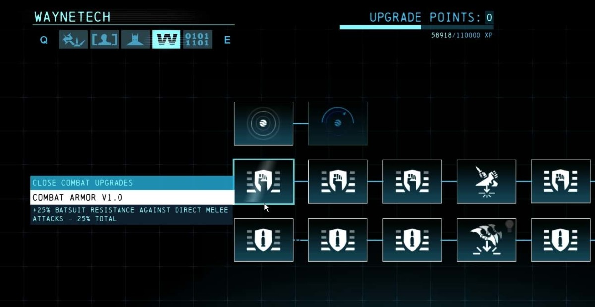 Batman Arkham Origins Close Combat Upgrades
