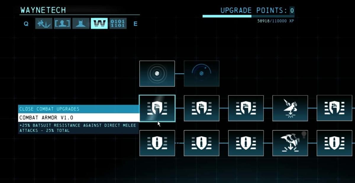 """""""Batman Arkham Origins"""" Upgrade Level Up Guide"""
