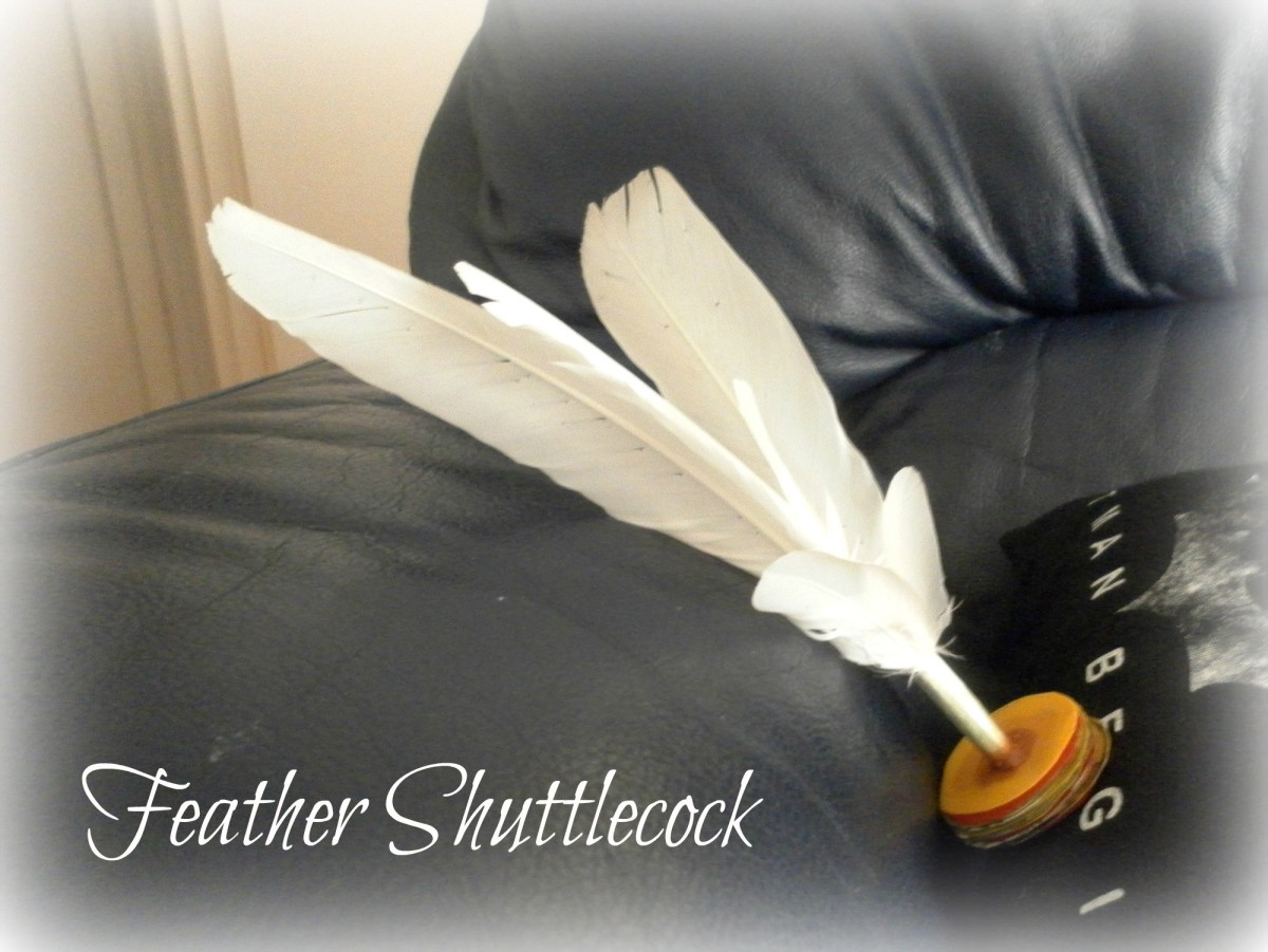 Fun With Chinese Shuttlecock Kicking - How to Make a Feather Shuttlecock Toy