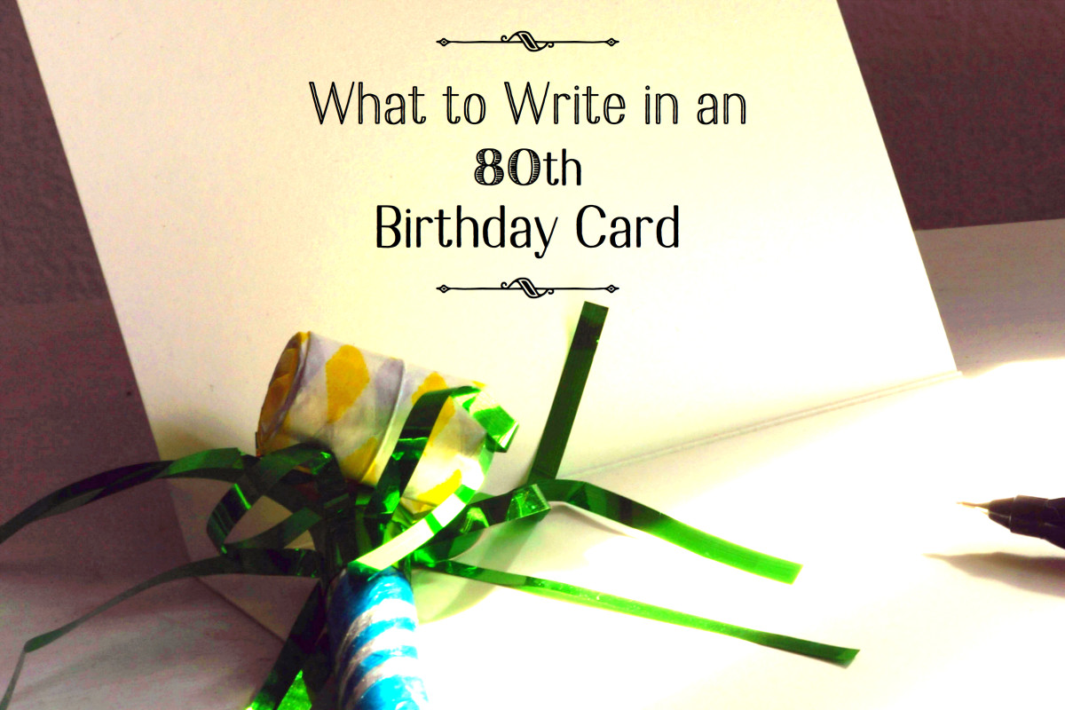 What To Write In An 80th Birthday Card Holidappy