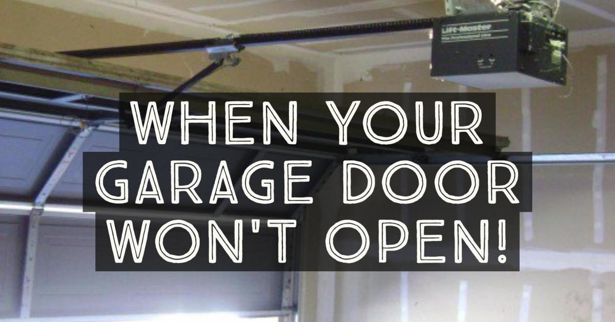 garage door opens halfway11 Most Common Reasons Why Your Garage Door Wont Open  Dengarden