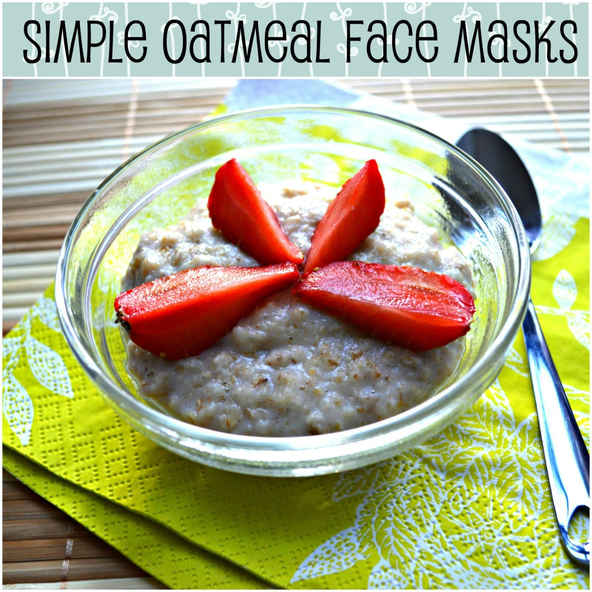 Slather a luxurious layer of wholesome oatmeal on your face and see what wonders it can do your skin! Three awesome face masks below.