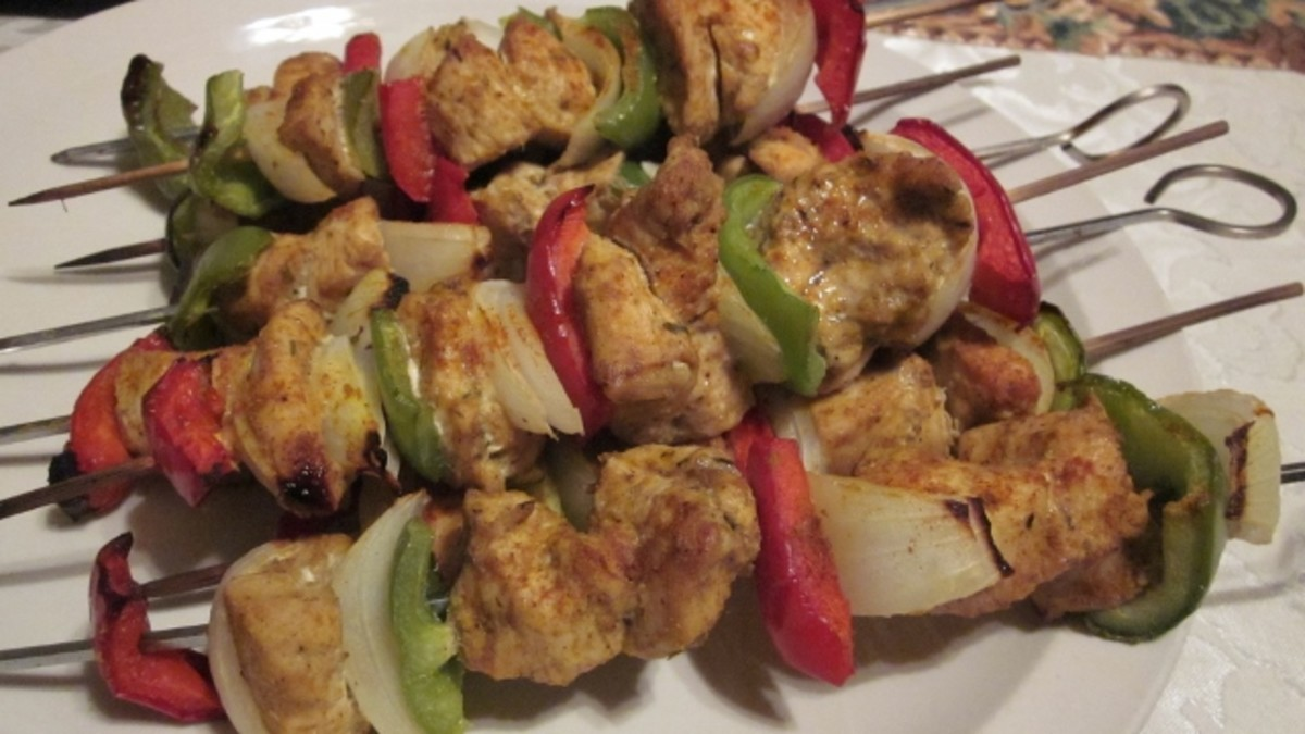 Hot and moist curry chicken kabobs are the perfect straight-out-of-the-oven appetizer or dinner item, from the broiler or off the outdoor grill.