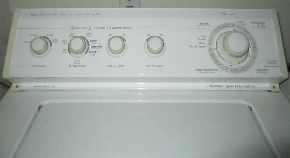 Typical washing machine.