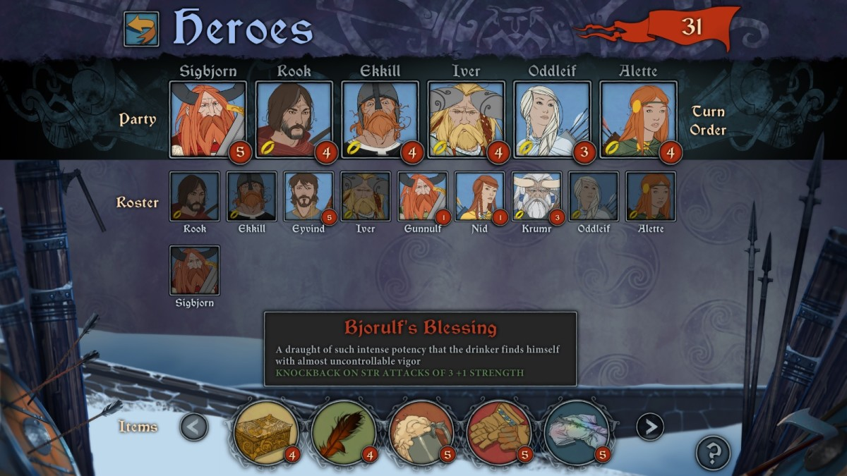 The Banner Saga Walkthrough: Item List