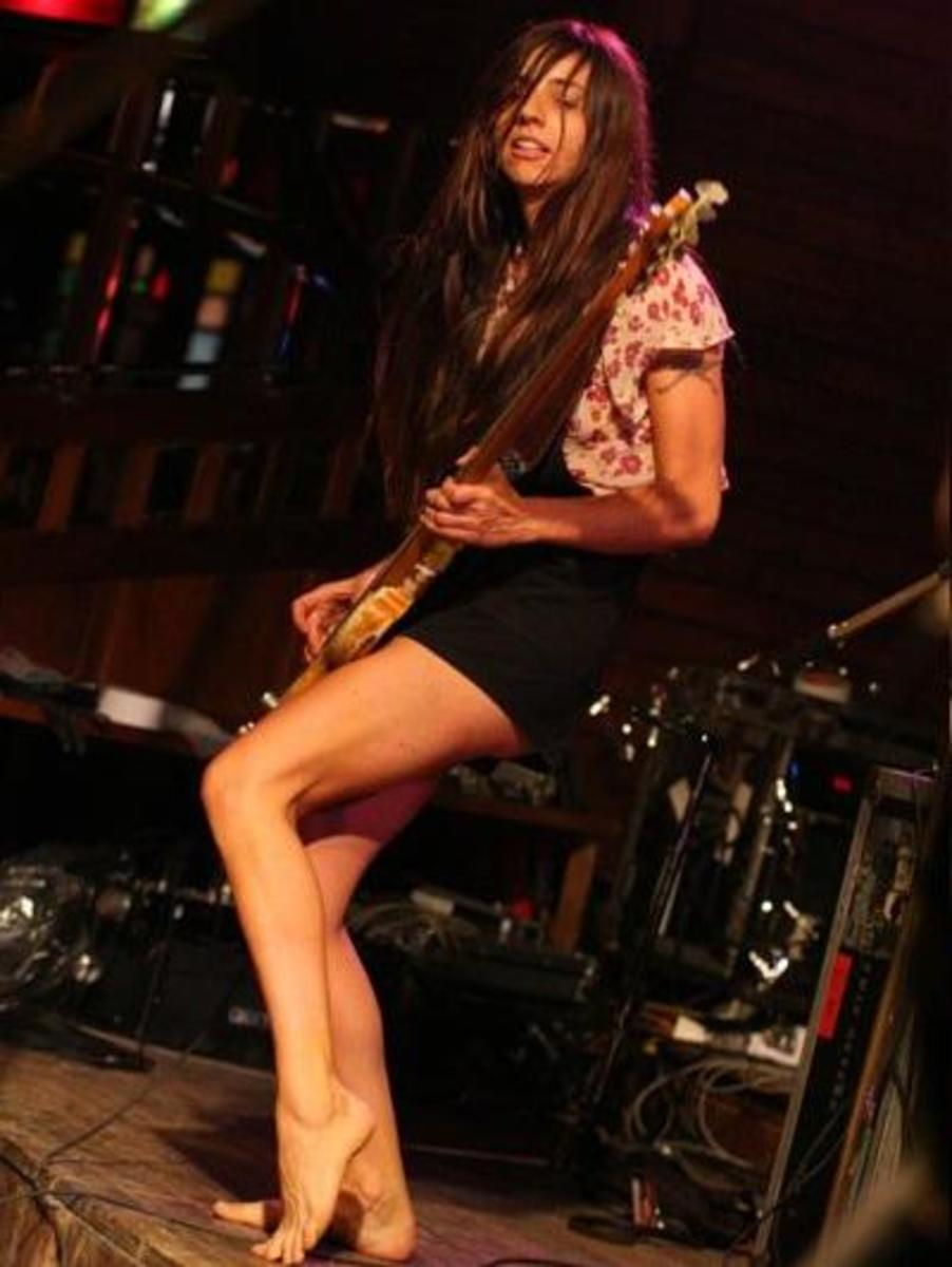 Paz Lenchantin currently plays bass with the Pixies. She previously played bass for a number of other acts including A Perfect Circle and Zwan.