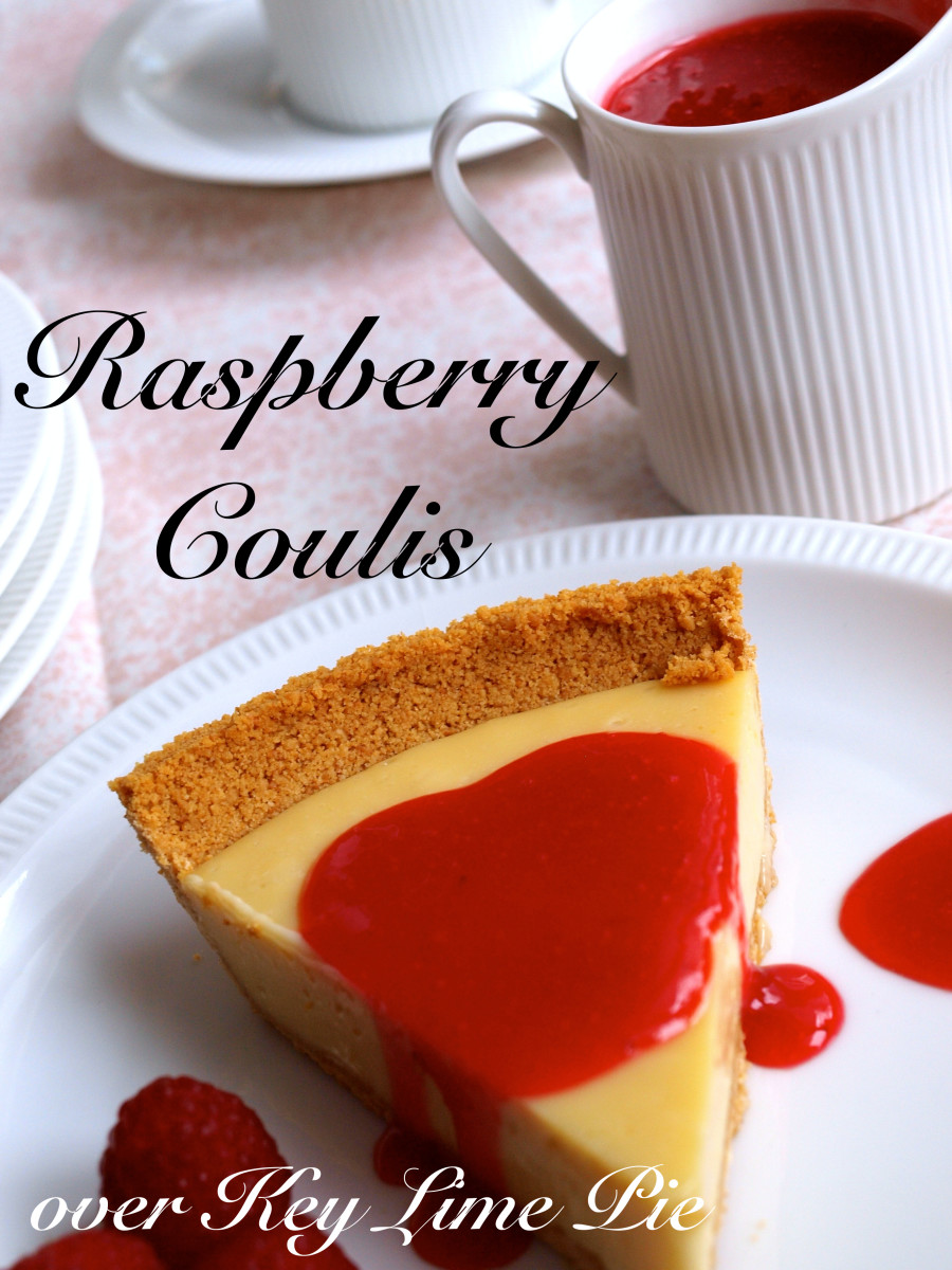A Raspberry Coulis is one of the most delicious things you'll ever taste.  The flavor of the fruit is really intense.
