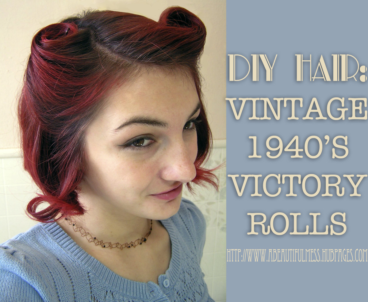 Victory rolls are adorable for any occasion!