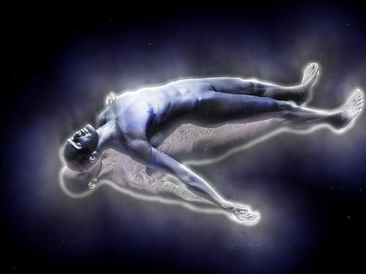 Out-of-body experiences occur when the essence of one's soul travels outside of the physical body.