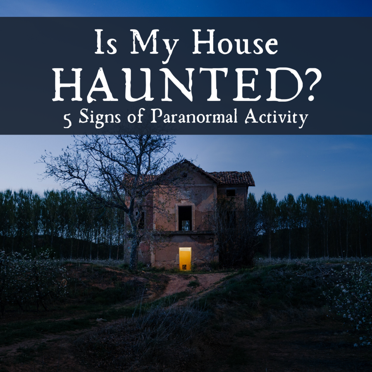 Explore some of the signs that may indicate a ghostly presence in your house.