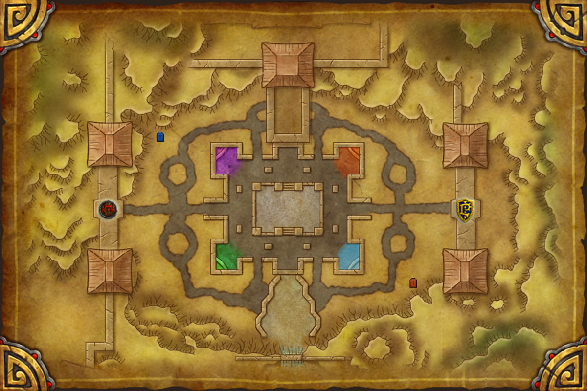 "The map to the Temple of Kotmogu, where the ""Hotmogu"" brawl takes place."
