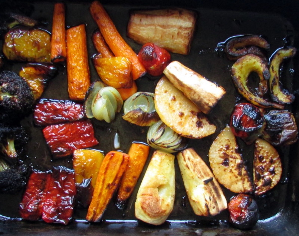 Recipe for Roasted Fresh Vegetables in the Oven