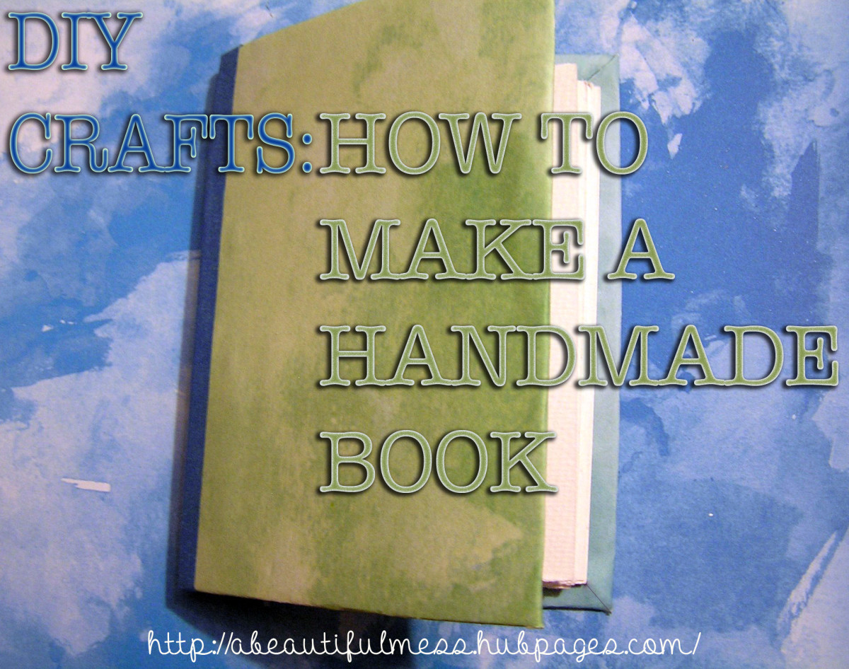 How To Make A Book Cover Diy : Diy crafts how to make a handmade book