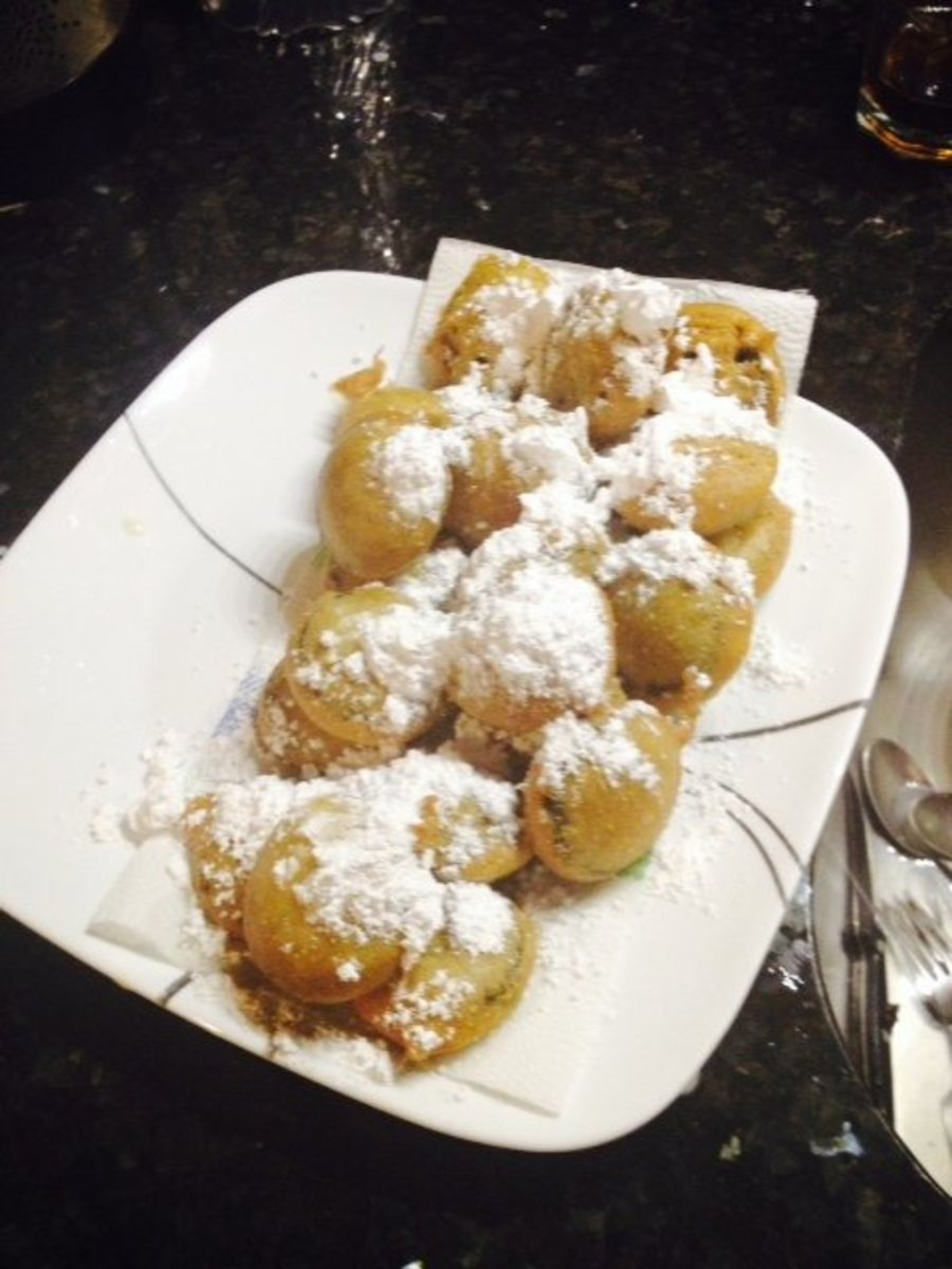I made this plate of boardwalk-style fried Oreos at home using Bisquick brand pancake mix.