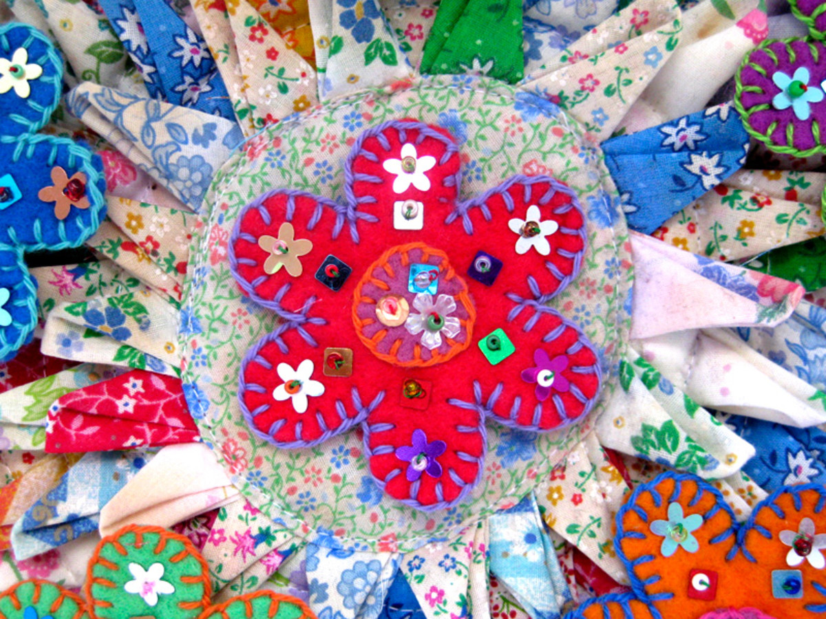 Felt flowers are an ideal profitable craft for selling because they dress up any outfit or craft project.