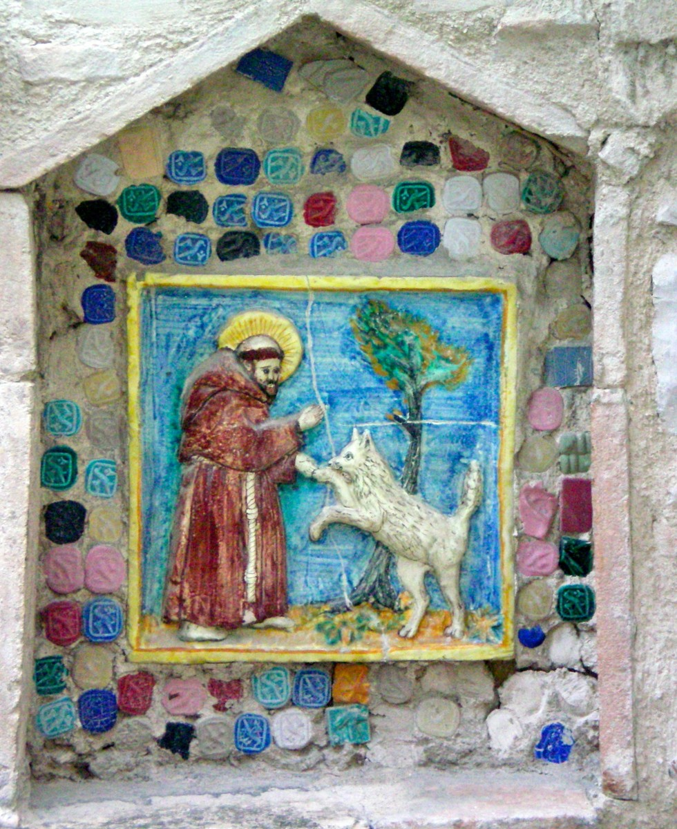 St Francis tames the wolf of Gubbio © A Harrison