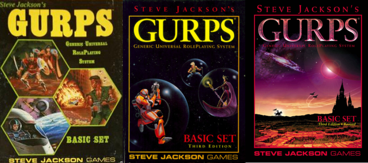 Early GURPS Editions (1st/2nd Edition; 3rd Edition; 3rd Edition Revised)